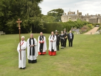 Procession from Walmer Castle